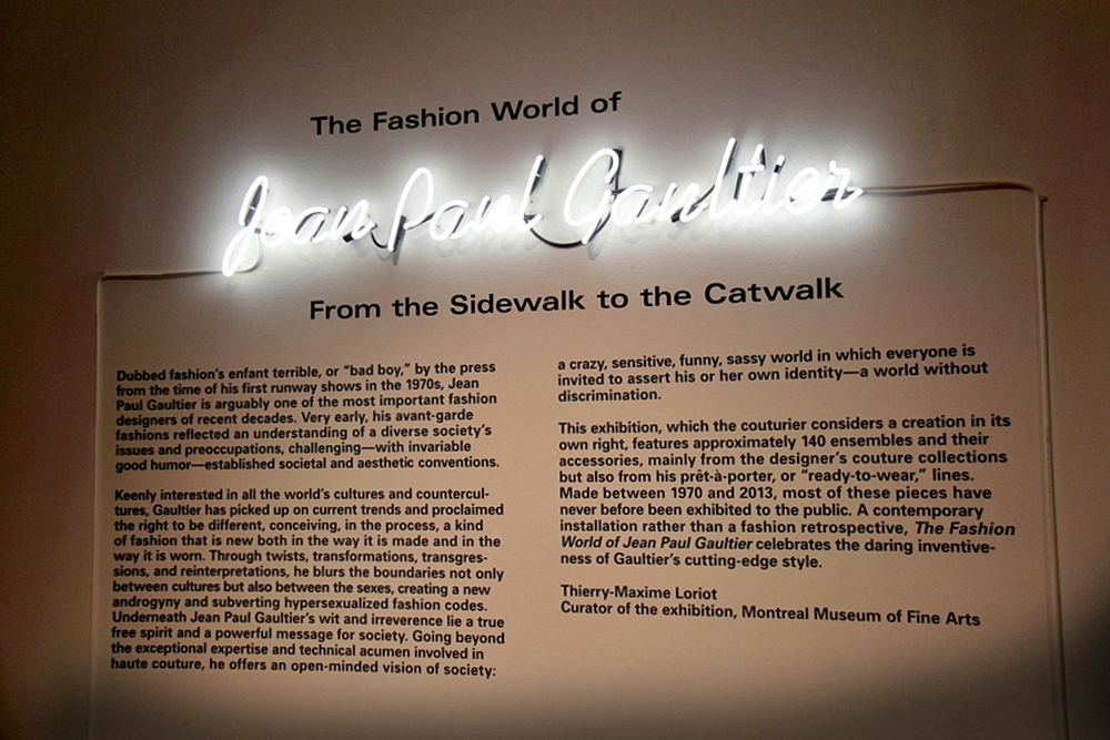 Jean Paul Gaultier Brooklyn Exhibition