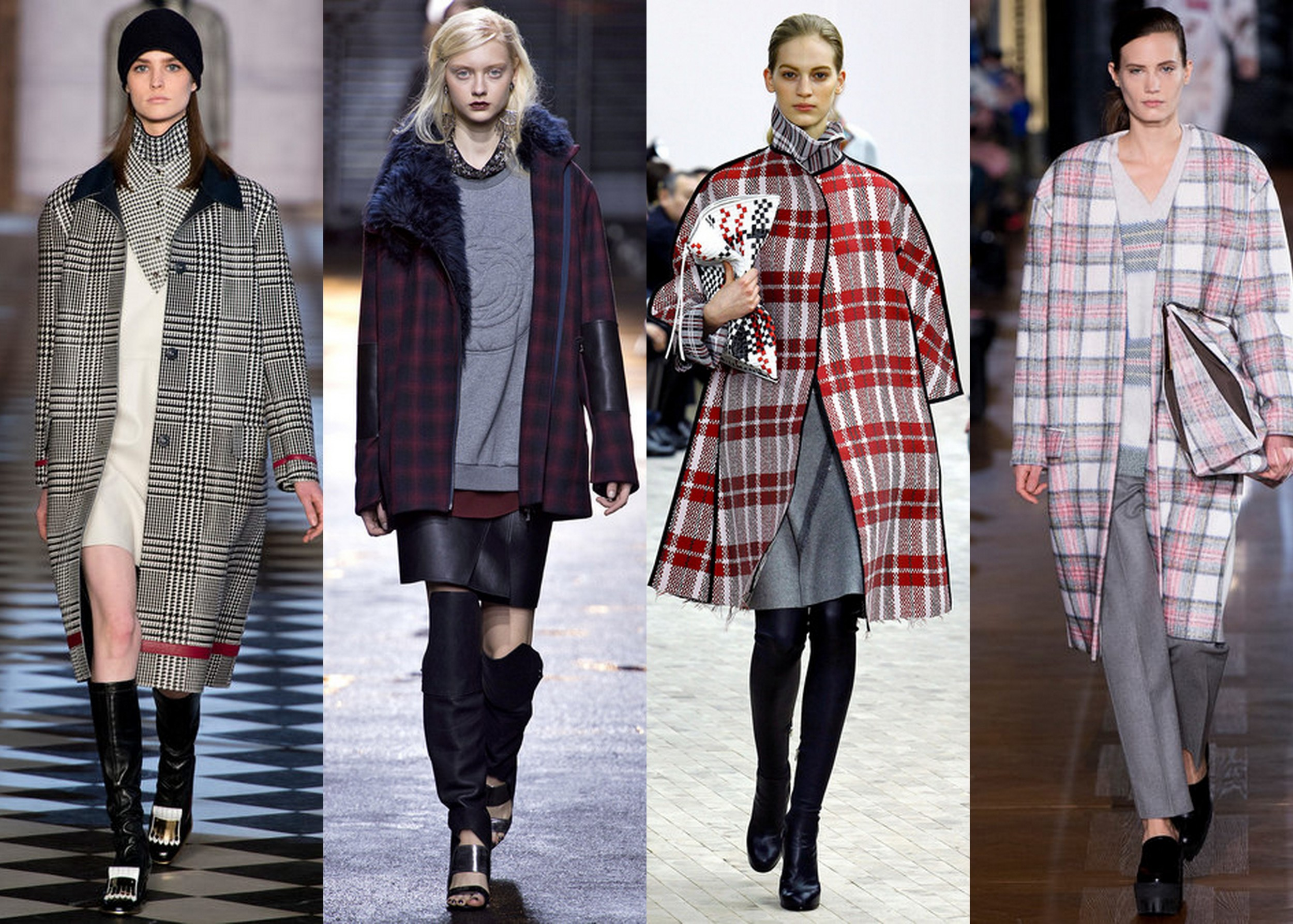 Plaid Coats www.reportista.com