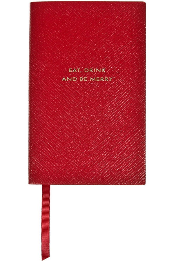 Smythson  Eat, Drink and Be Merry Notebook
