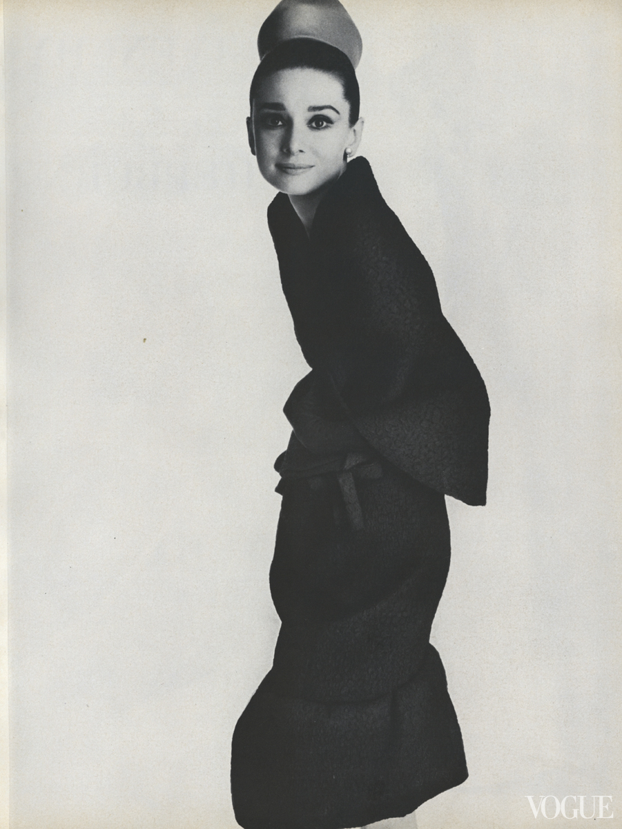 Audrey Hepburn in Givenchy Photographed by Irving Penn, Vogue, 1964.