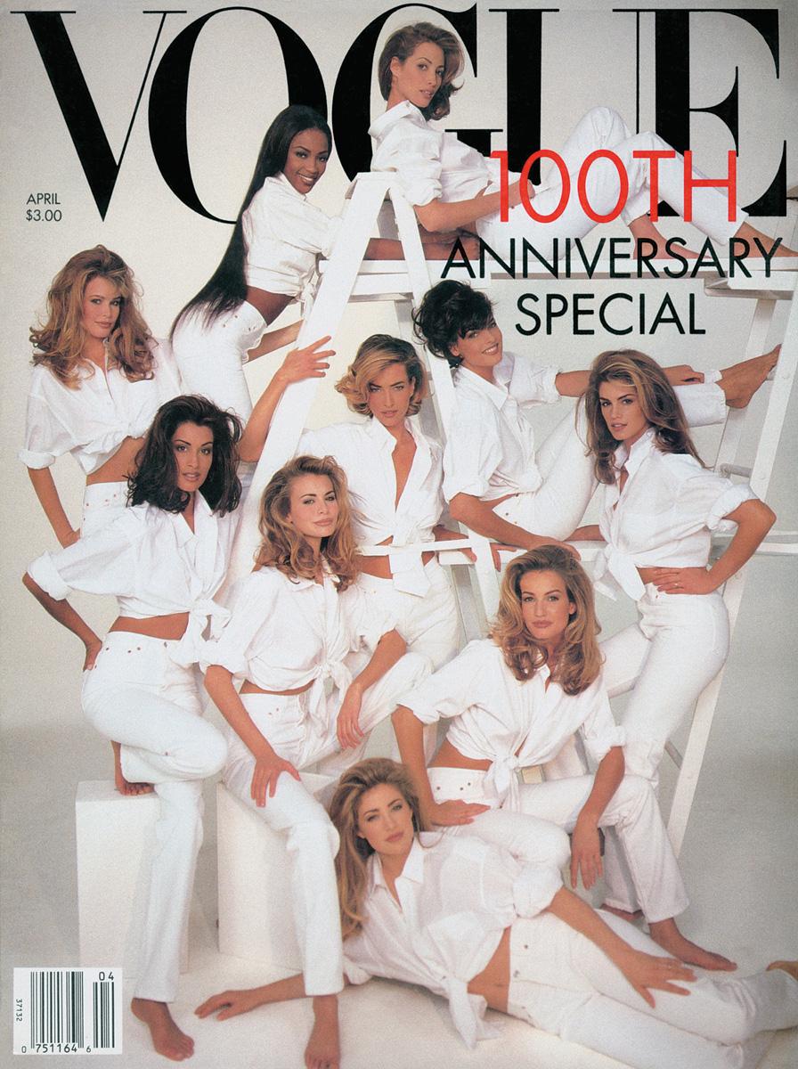 Vogue ,April 1992 Photographed by Patrick Demarchelier