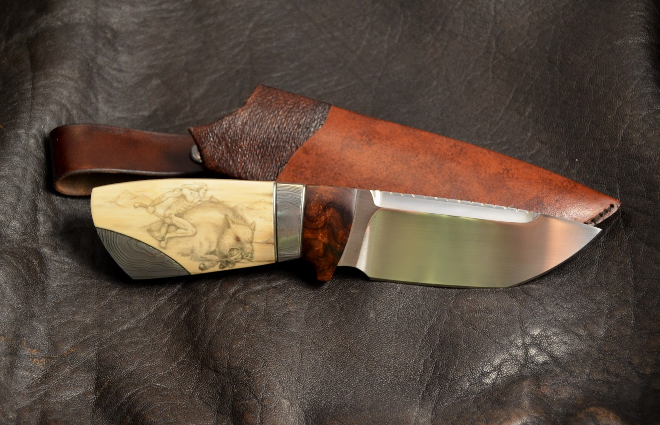 Kniv skapad av Michael Almqvist. www.carlmichael.info