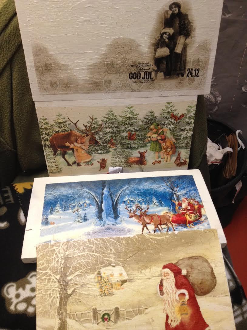 Tavlor med julmotiv av Anki Persson