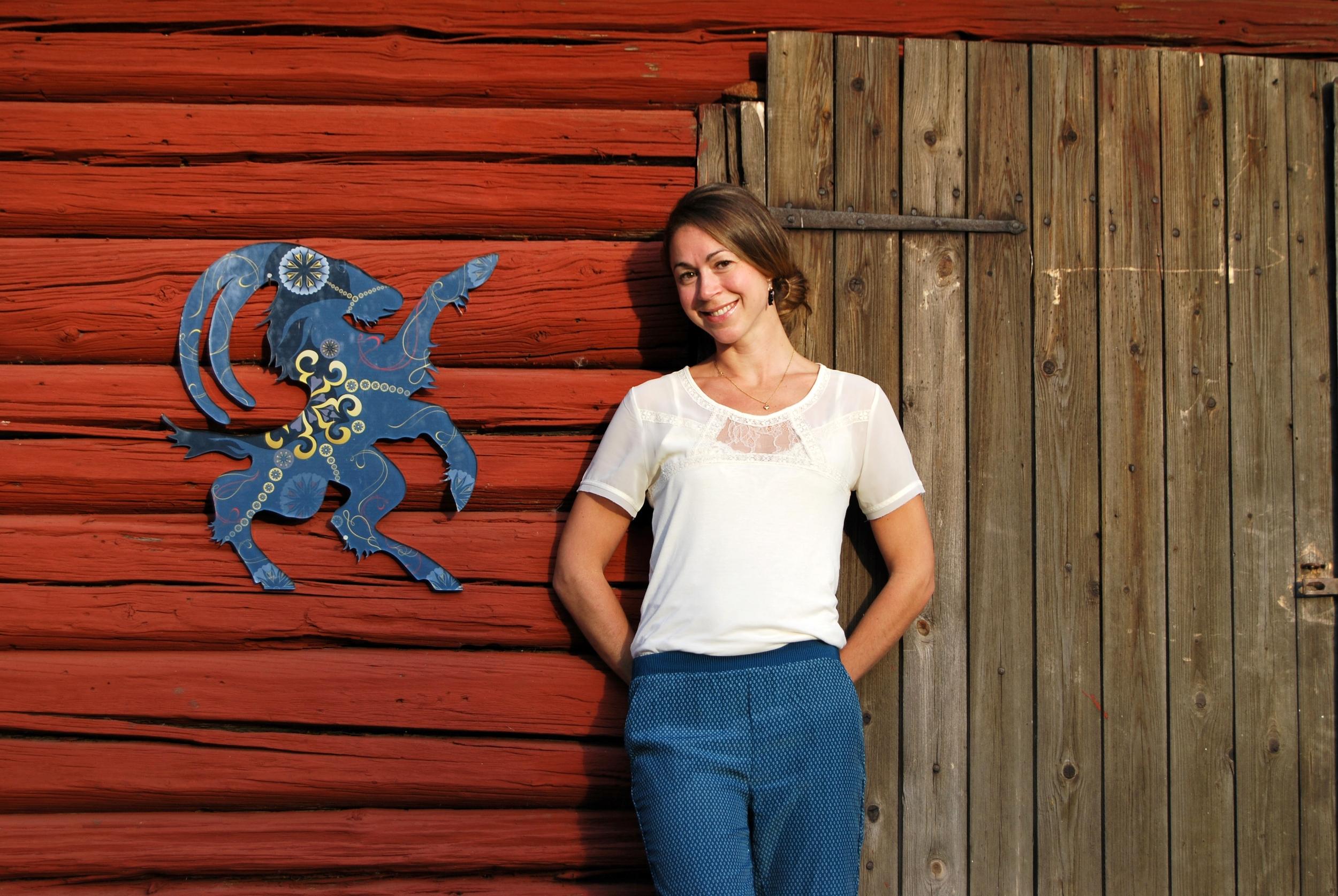 Konstnär och designer Caroline Tinterova medverkar på Midvinterglöd 2014.