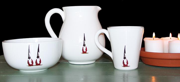 Keramik av konstnär och grafisk designer Eva Olsson.