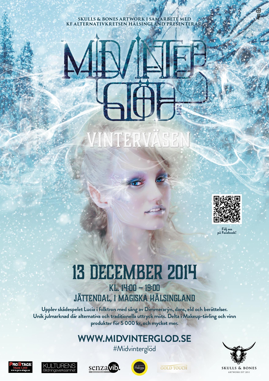 Midvinterglöd 2014 - Vinterväsen affisch skapades av designern och AD Anton Jacobson.