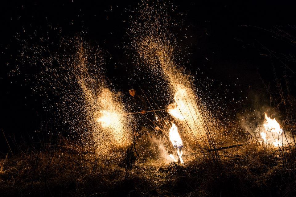 Act of Emotions eldshow på Midvinterglöd 2014 - Vinterväsen. Foto: Philippe Rendu
