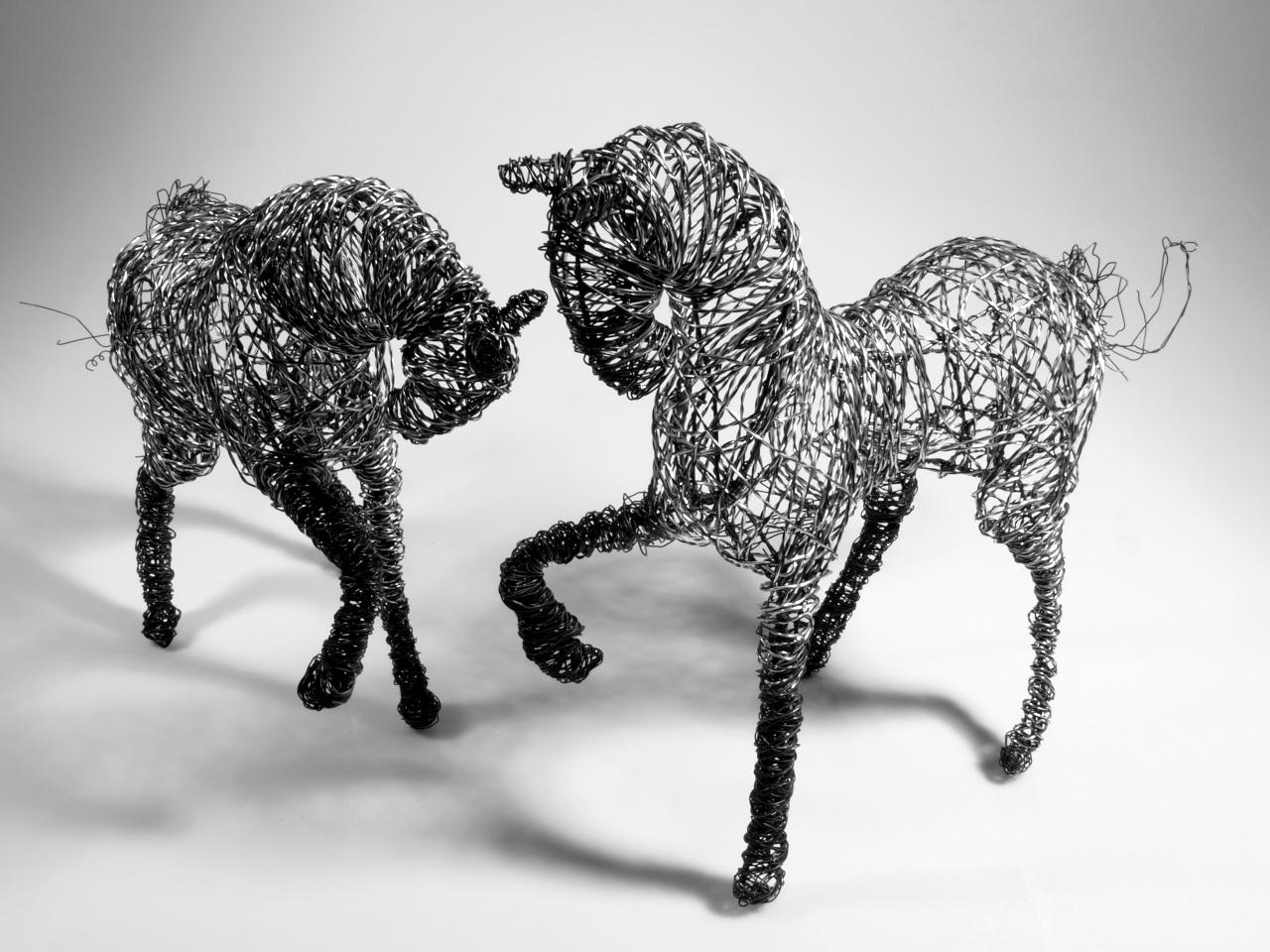 Susanne Arnfridsson - Arnfridsson Art and Steel - Häst i ståltråd.