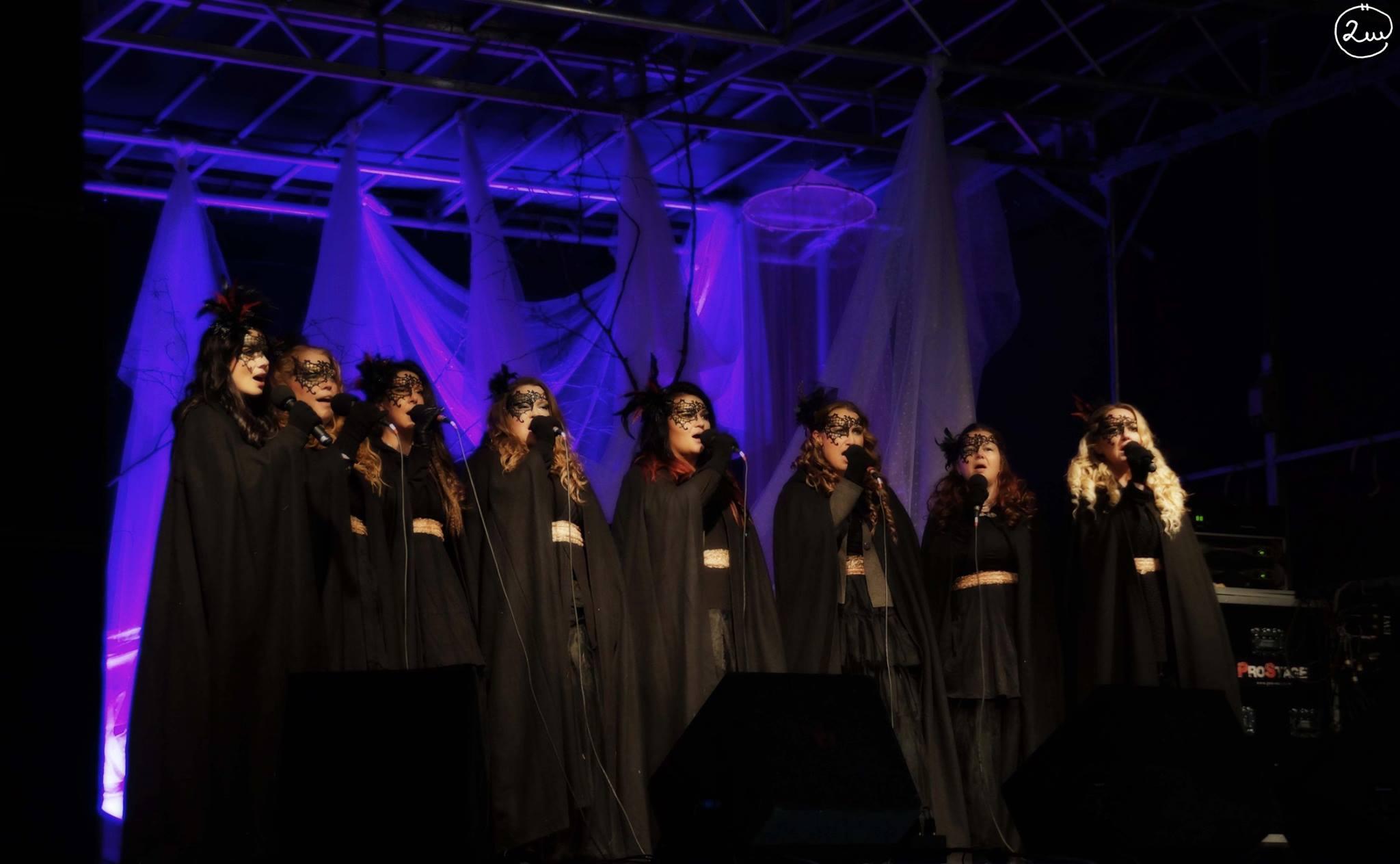 Vokalgruppen Dimmerar'yn uppträder med stämsång under showen. Foto:Stephanie & Ulrika Örjas, 2Witches Photo
