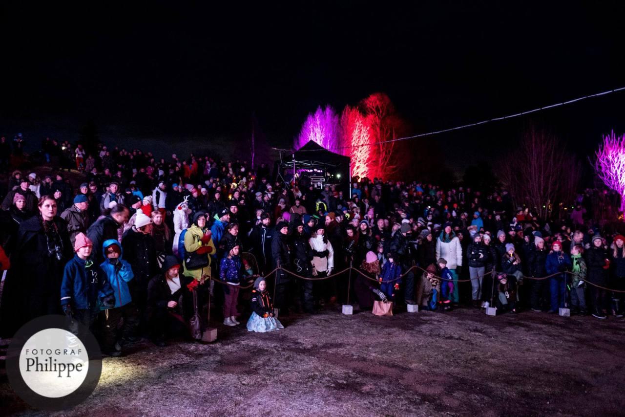 Midvinterglöd 2016 - Helsinglight, Femte Ljuset slog nytt publikrekord. 1800 besökare! Foto: Philippe Rendu / Midvinterglöd
