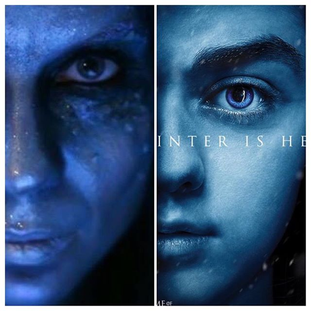 In 2012 when we started Midvinterglöd (midwinterglow) I (Petra Shara Stoor) created this look to the left on myself for our first poster for the event. Glad to see Game of Thrones found it inspiring for their poster for the new season coming up 😝😜 #midvinterglöd #gameofthrones #winteriscoming #makeup #sfxmakeup #midwinterglow