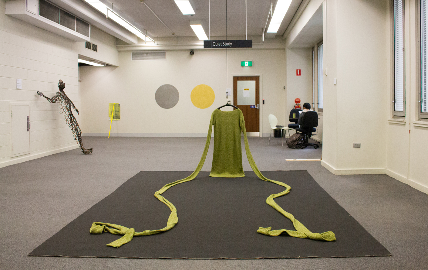 Mother,  Wool and mixed media, RMIT Library 700s exhibition, 2015