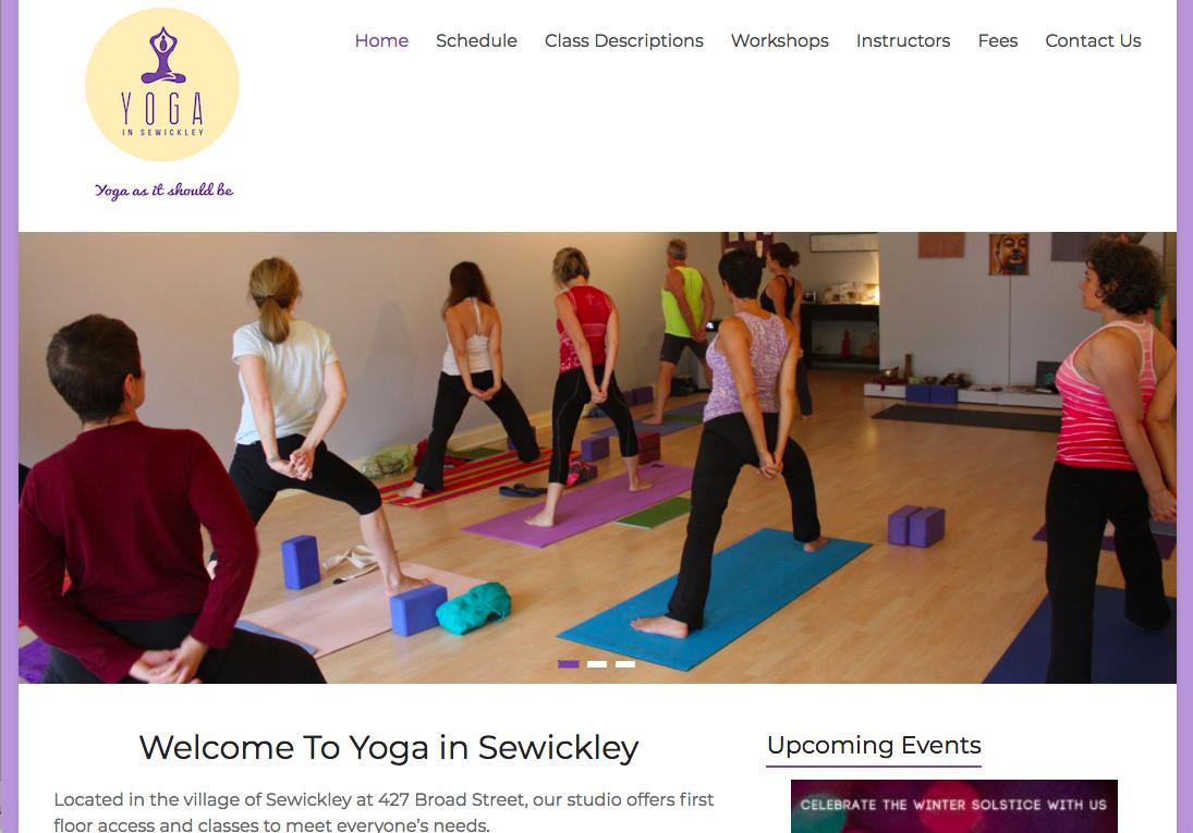 Yoga in Sewickley - yogainsewickley.comCreated on Wordpress