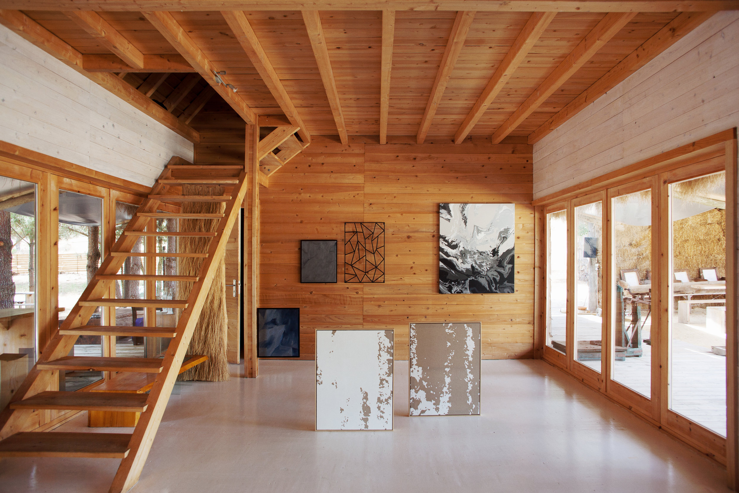 Installation view  (De)Nature,  Underdogs Gallery at Com.Horta, Comporta, Portugal, 2015 Photo: Pedro Matos
