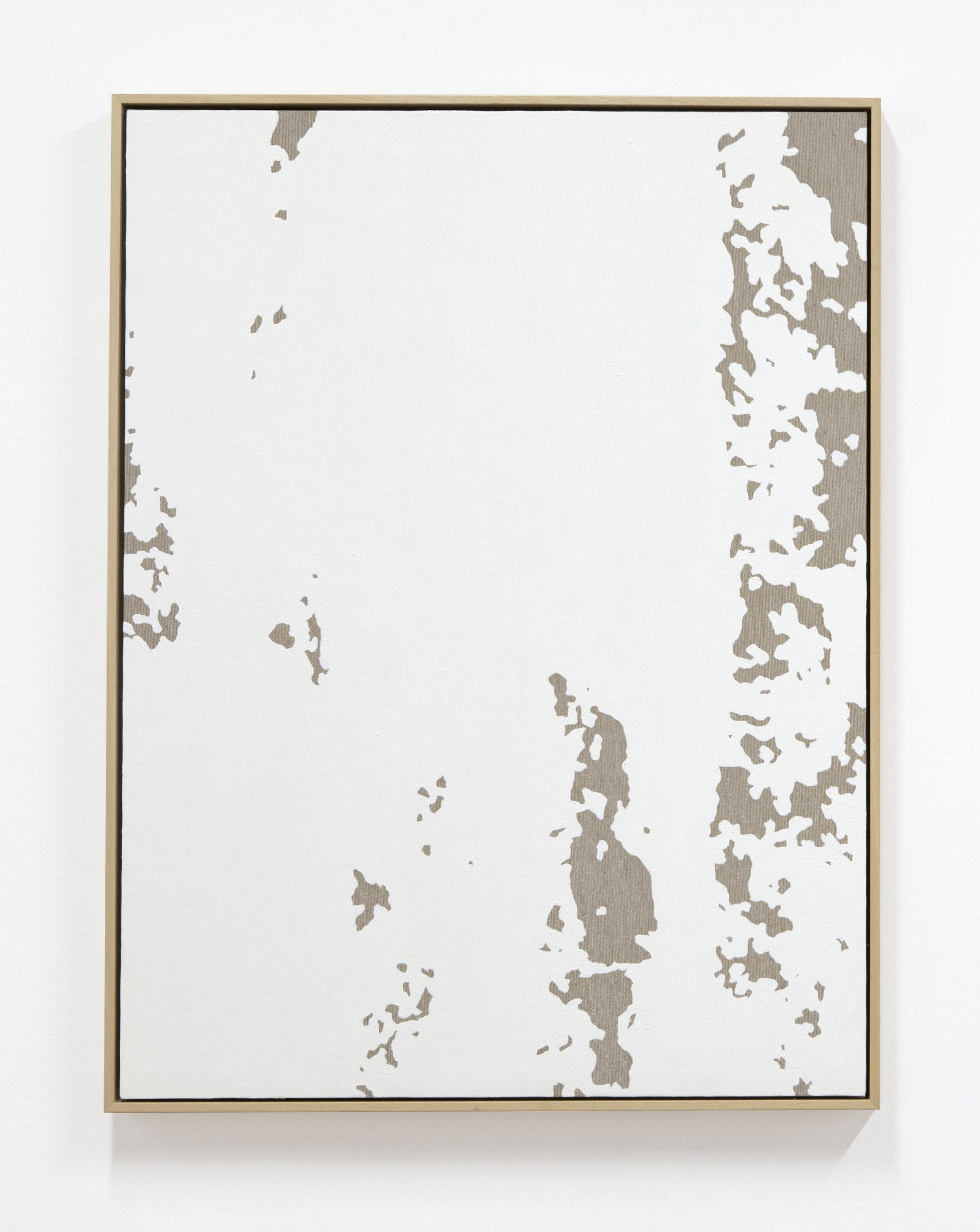 PedroMatos  Fainter and fainter , 2015 Oil on unprimed canas, wooden stretchers, natural wood frame,  80 x 60 cm  Photo: Hubert Marot