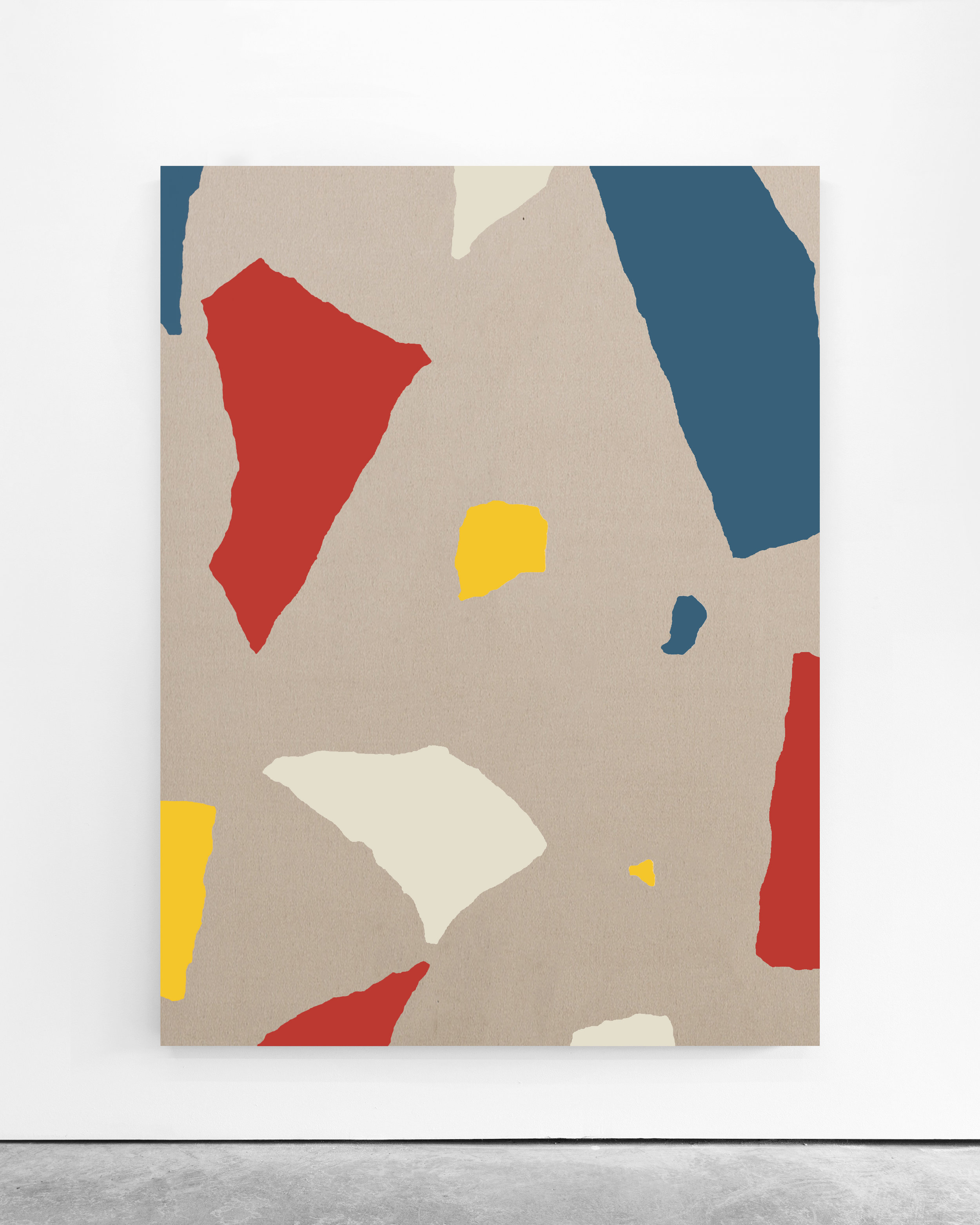 Pedro Matos   Untitled , 2019 Acrylic enamel on unprimed cotton canvas 200 x 150 cm