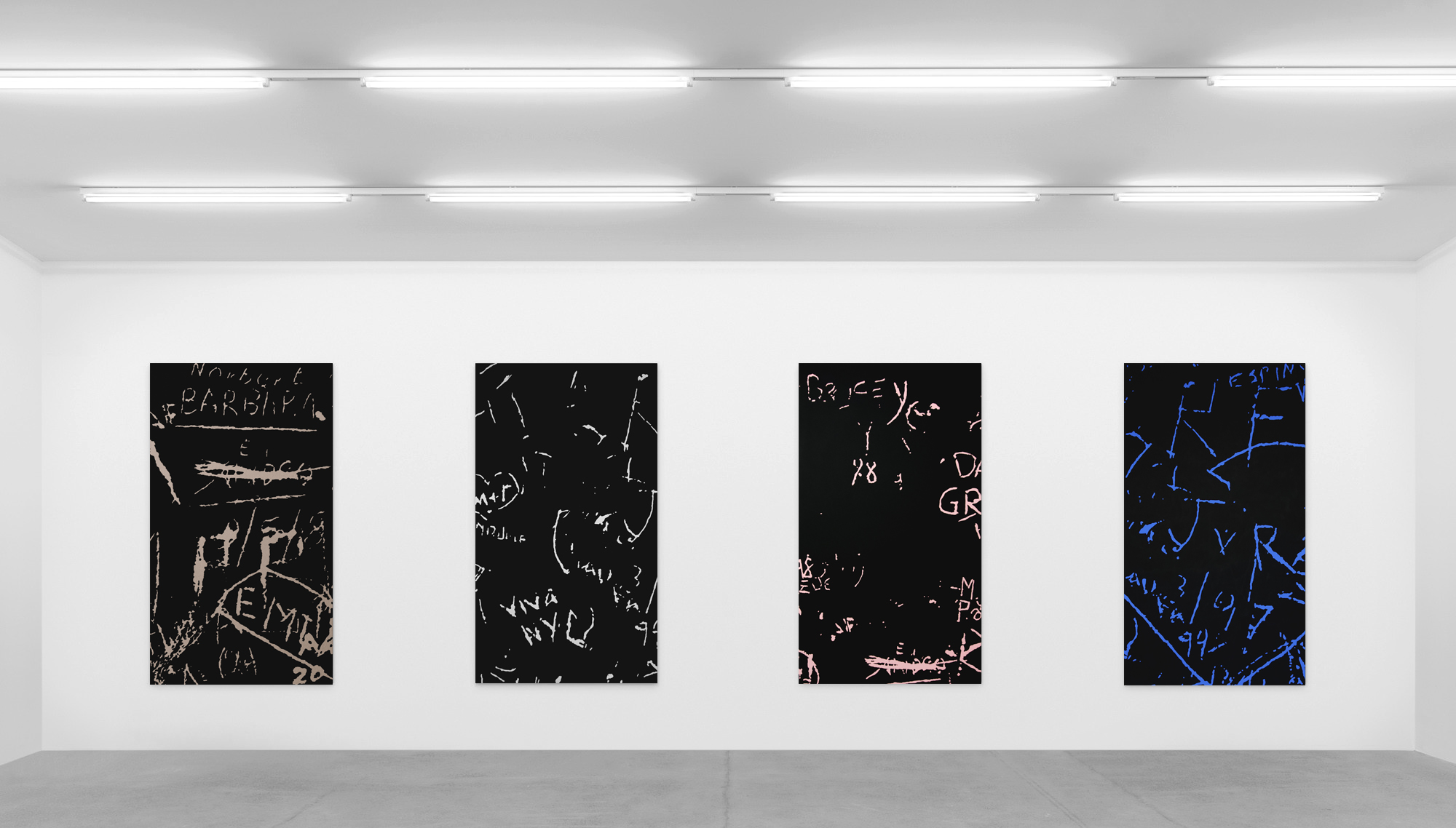 Installation view  Carving Paintings , exhibited at Saatchi Gallery, London United Kingdom, 2018 Kristin Hjellegjerde Gallery, London, United Kingdom, 2018 Eduardo Secci Contemporary, Florence, Italy, 2018