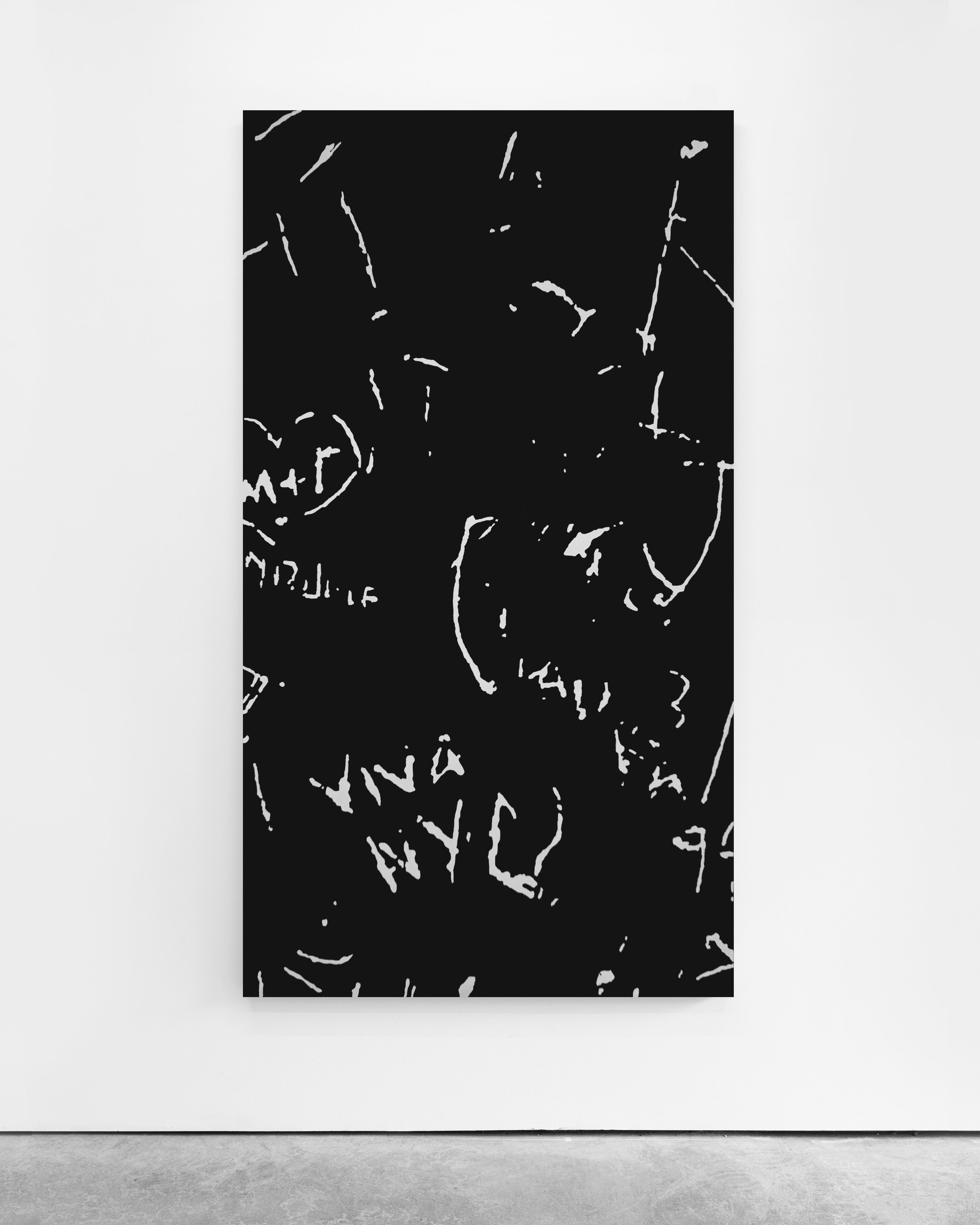 Pedro Matos  Untitled (NYC) , 2018 Acrylic enamel on canvas 180 x 100 cm