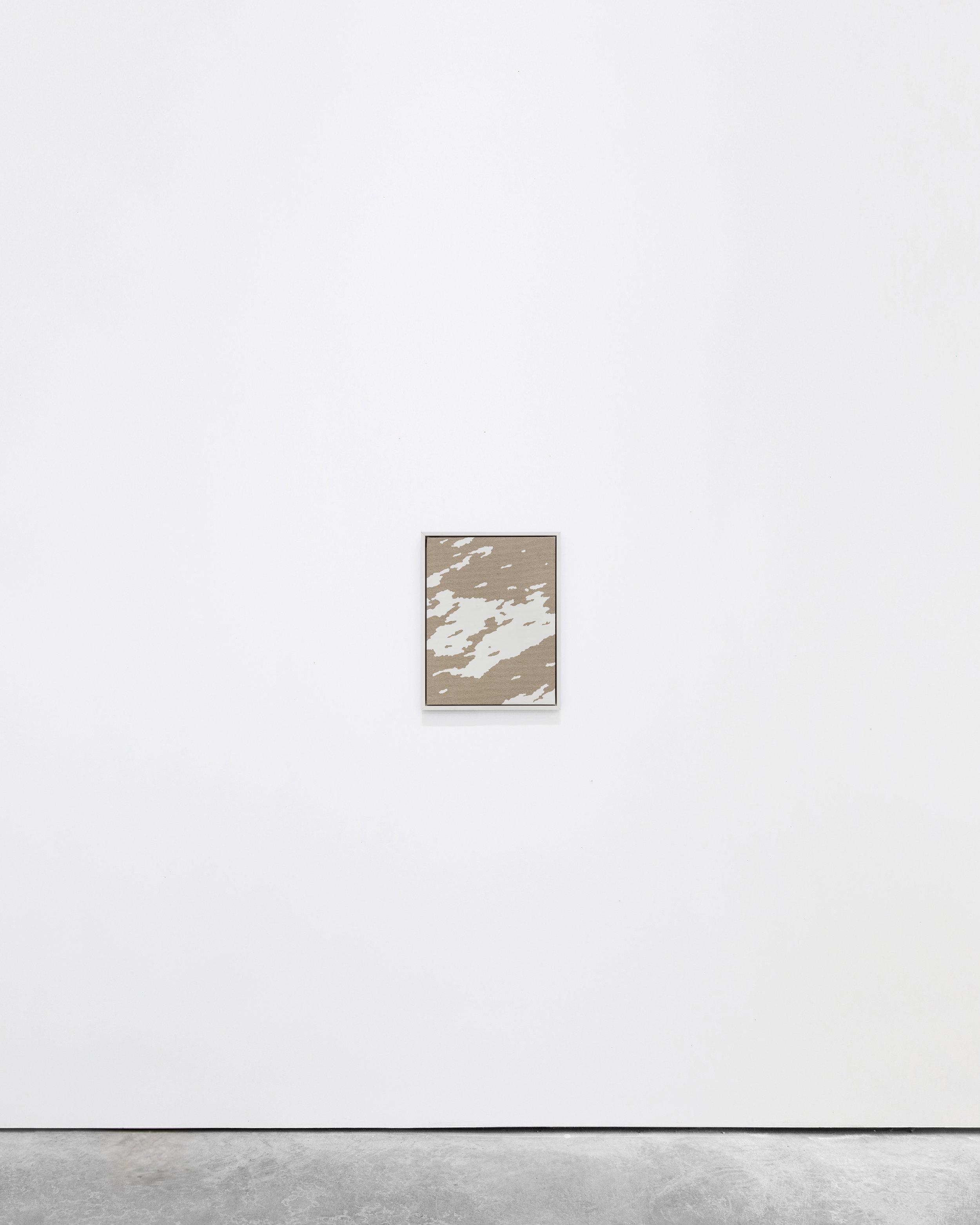 Pedro Matos  Early morning mist , 2016 Acrylic enamel on unprimed linen, wood frame 40 x 30 cm