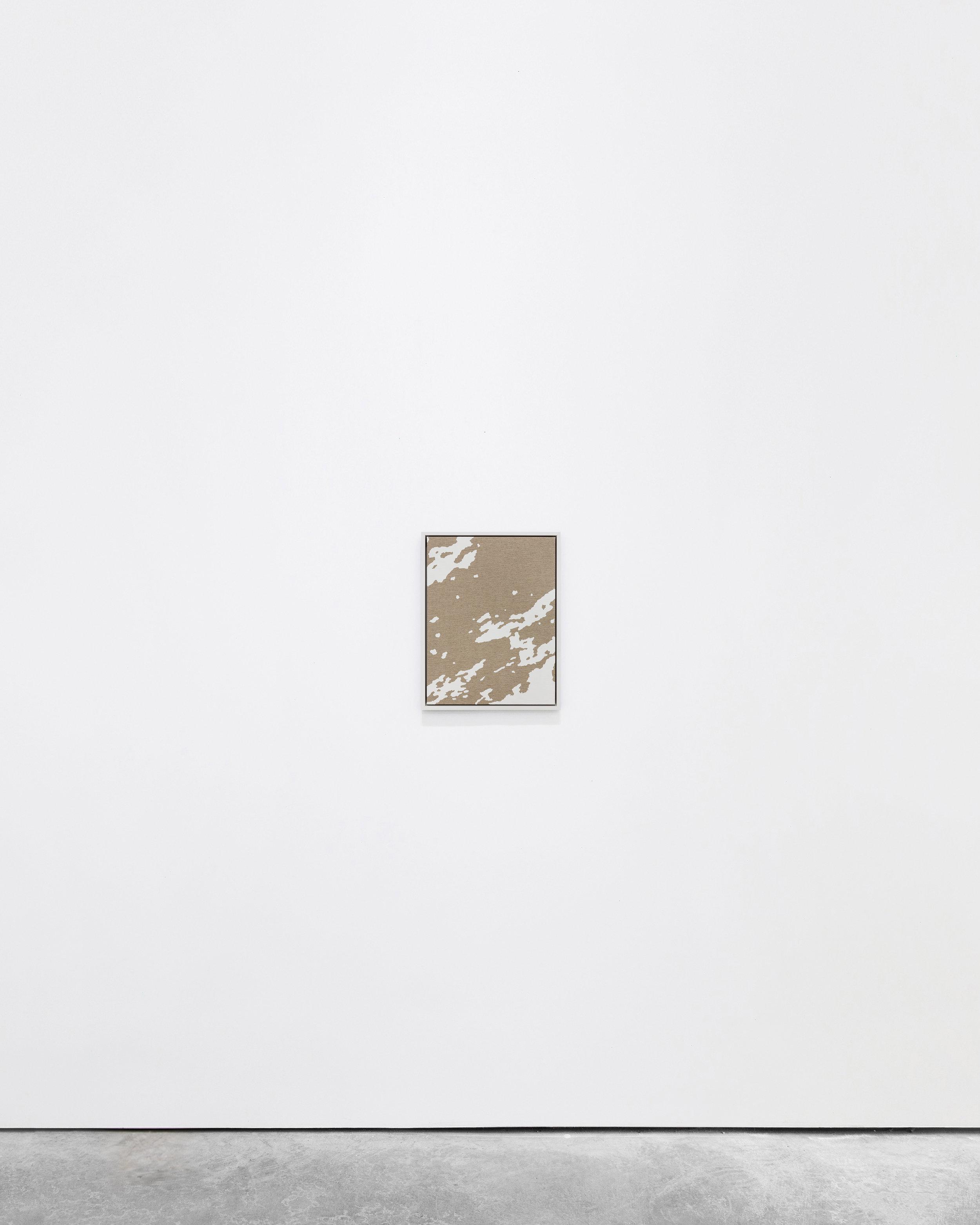 Pedro Matos  never a place, but a new way… , 2016 Acrylic enamel on unprimed linen, wood frame 40 x 30 cm