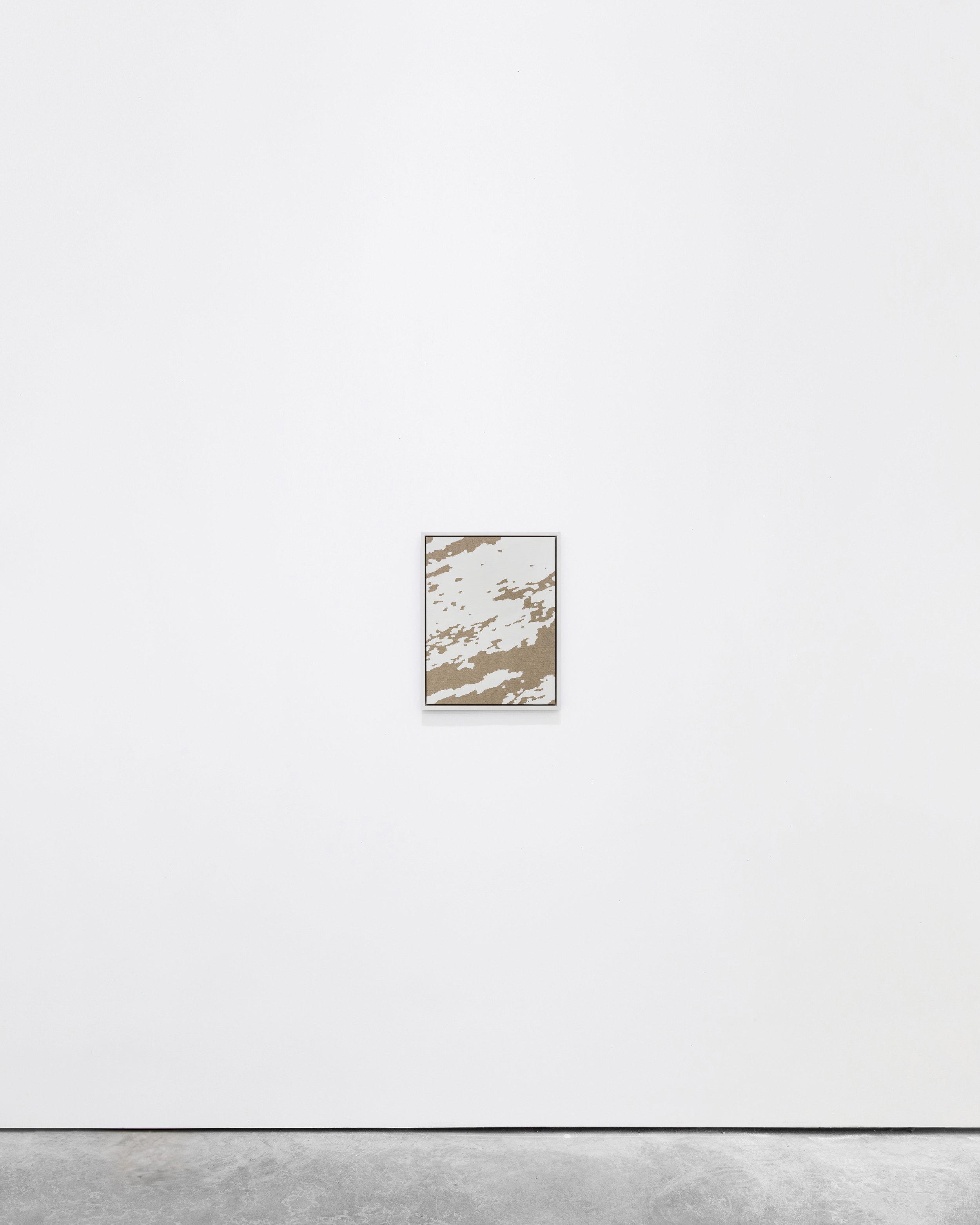 Pedro Matos  Under a Pile of Winter,  2016 Acrylic enamel on unprimed linen, wood frame 40 x 30 cm