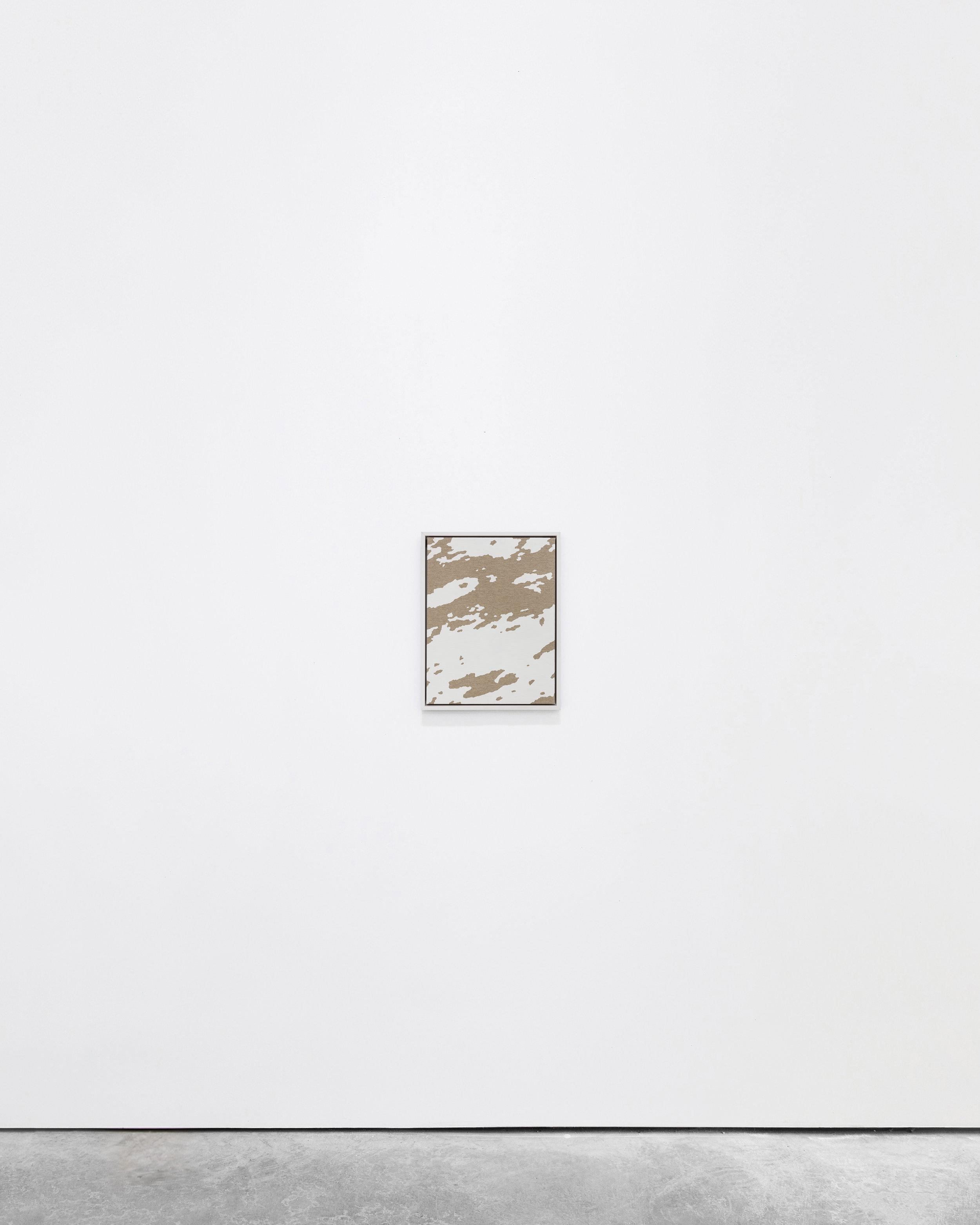 Pedro Matos  Fixed Income,  2016 Acrylic enamel on unprimed linen, wood frame 40 x 30 cm