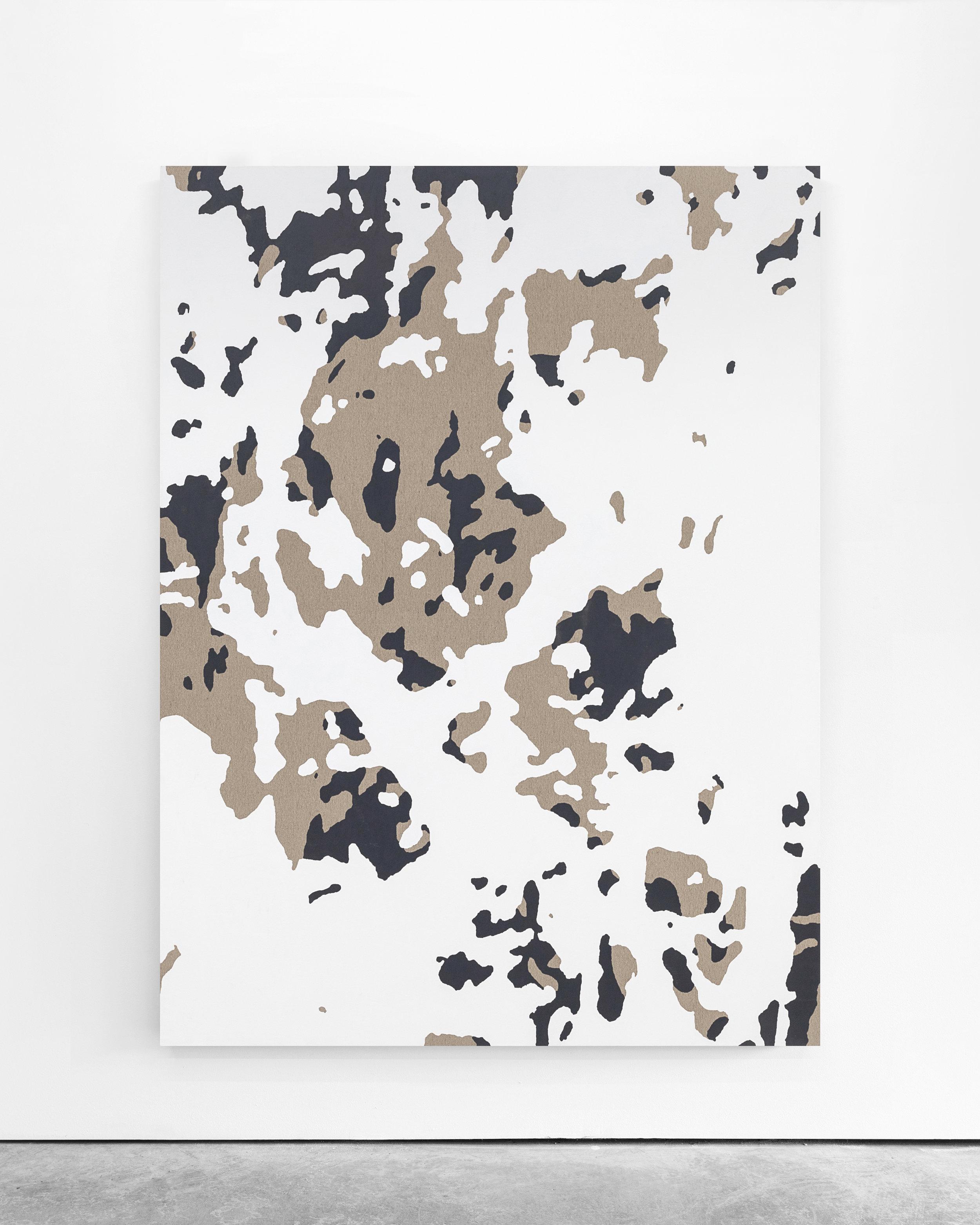 Pedro Matos  Untitled , 2018 Acrylic enamel on linen 200 x 150 cm