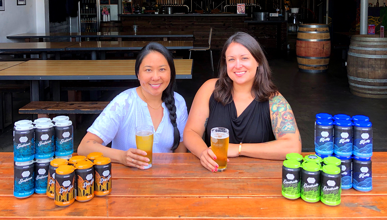 FOUNDER LYNNE WEAVER AND BREWMASTER ALEXANDRA NOWELL