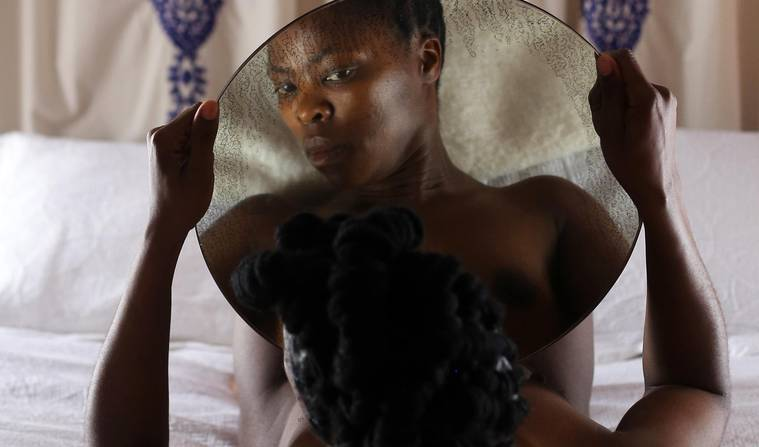 The South African photographer Zanele Muholi. Making visible South African LGBTQ realities on a global scale. Here, confronting her own gaze; challenging the colonial, heterosexist gaze, through her body of work.