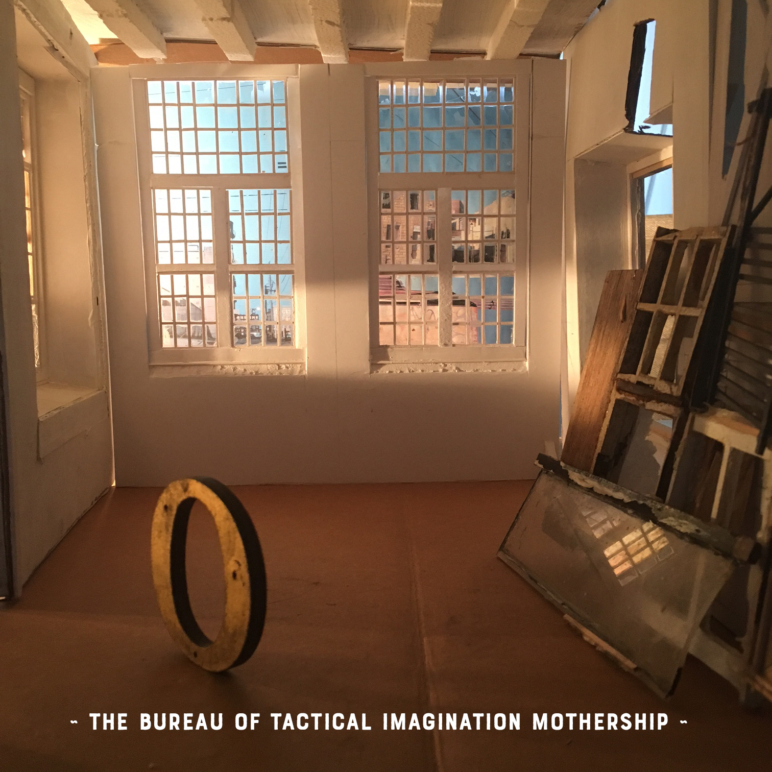 (Can you tell this image is a miniature? Its my little dollhouse-sized studio - a replica of the real Tactical Imagination Mothership. Hope you can visit sometime...)