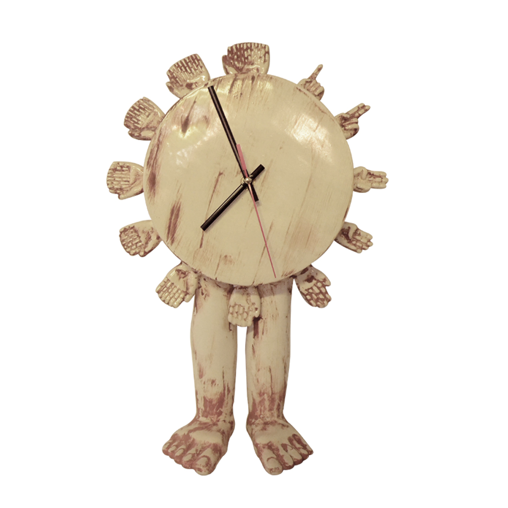 Reloj   Elaborado en cerámica de alta temperatura.  Tamaño: 43 cm x 30 cm. x 10 cm.  Colores: Estilo marmoleado.