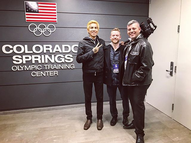 TEAM MATTERS  Aw yeah!! Our team filming at the #olympics training center in #Colorado Springs last week.  @jcop22 @jontheroberts @thesamsarastudios  #filmmaking #setlife #canon #team #team #brightbokeh