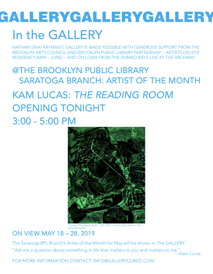Press Release : KAM LUCAS : THE READING ROOM