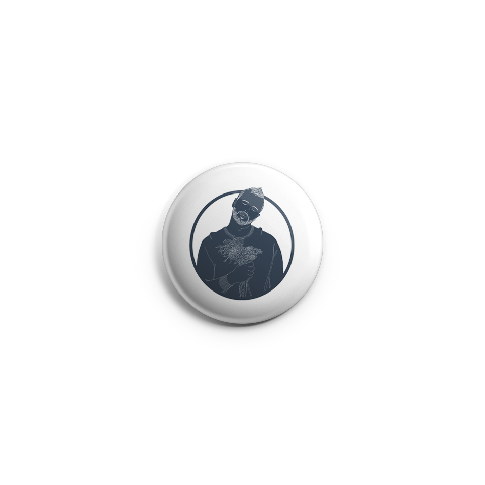 """Thomas Graff """"Make It Easy"""" Navy Silhouette Button by RoMillion $4"""