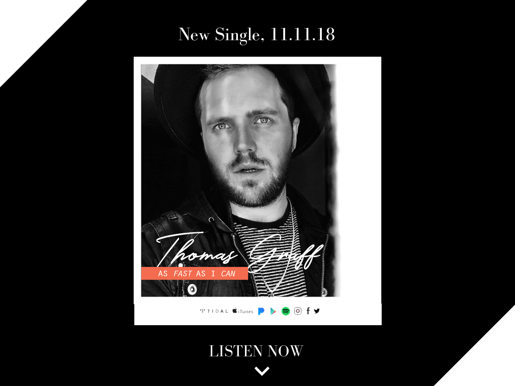 Thomas Graff, As Fast As I Can, New Music, iTunes, Spotify, Music New York City