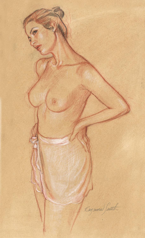 """The Dancer    Pastel & Charcoal15"""" X 22"""" 2012  Model:  Amanda Greer"""