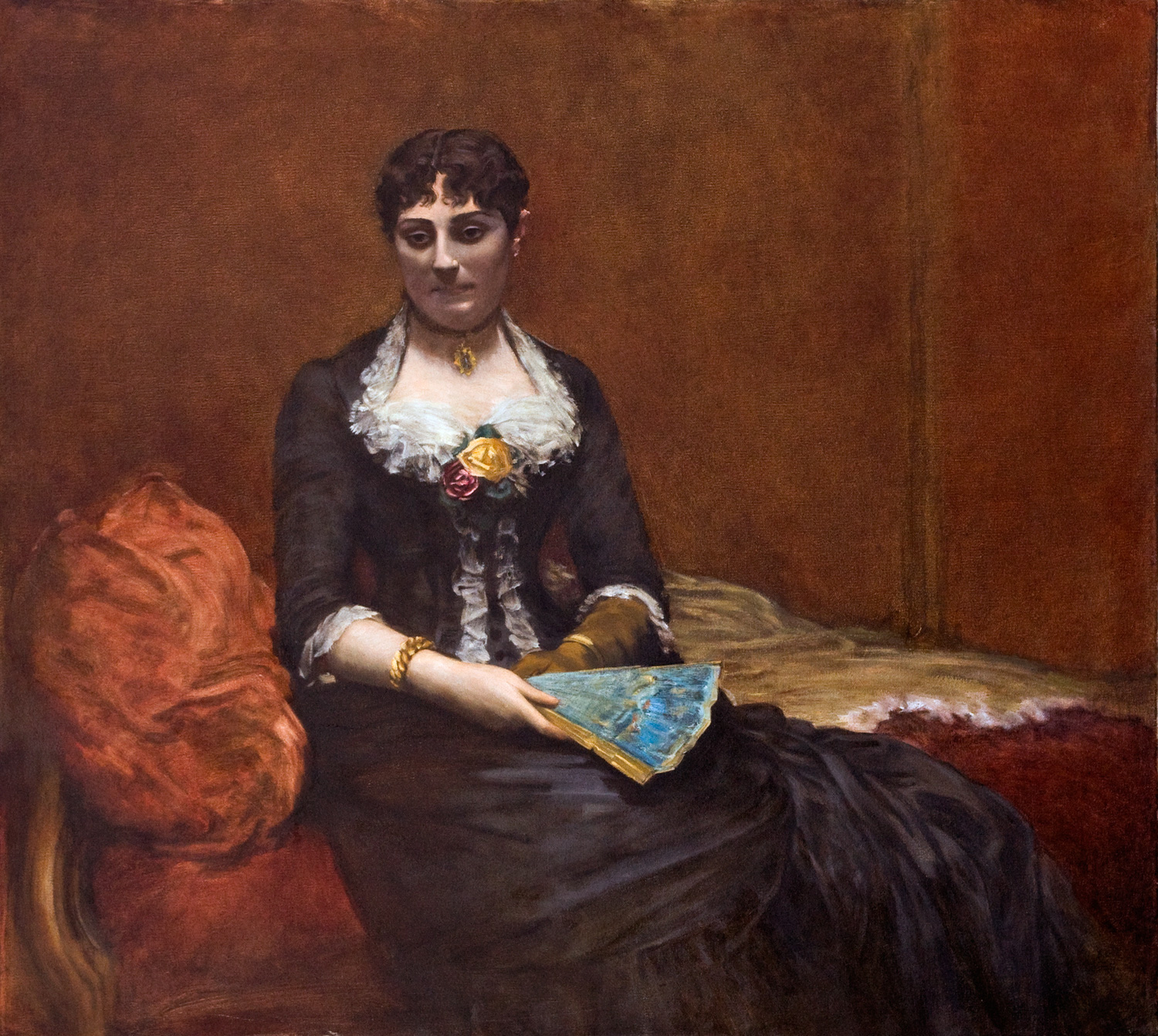 """Mme Leon Maitré  after Fantin Latour  Oil 33"""" X 30"""" 2004 Painted from the original at the Brooklyn Museum of Art"""