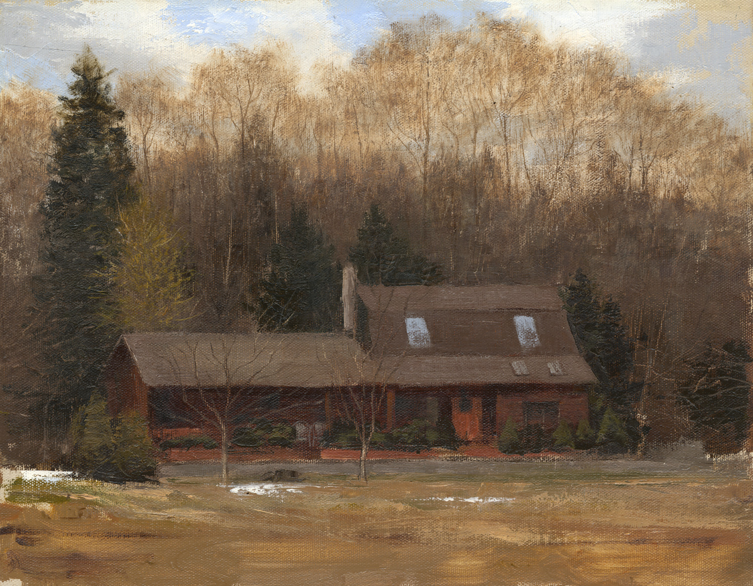 "Cabin O'Carey     Oil/Canvas   11"" X 14""   2011  Collection of Sandra & John Carey"