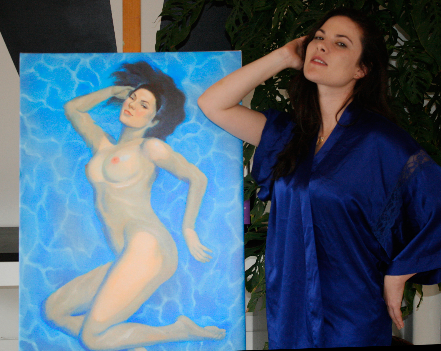 "Digital print of  Christina,  24"" X 36"", with Amanda Greer."