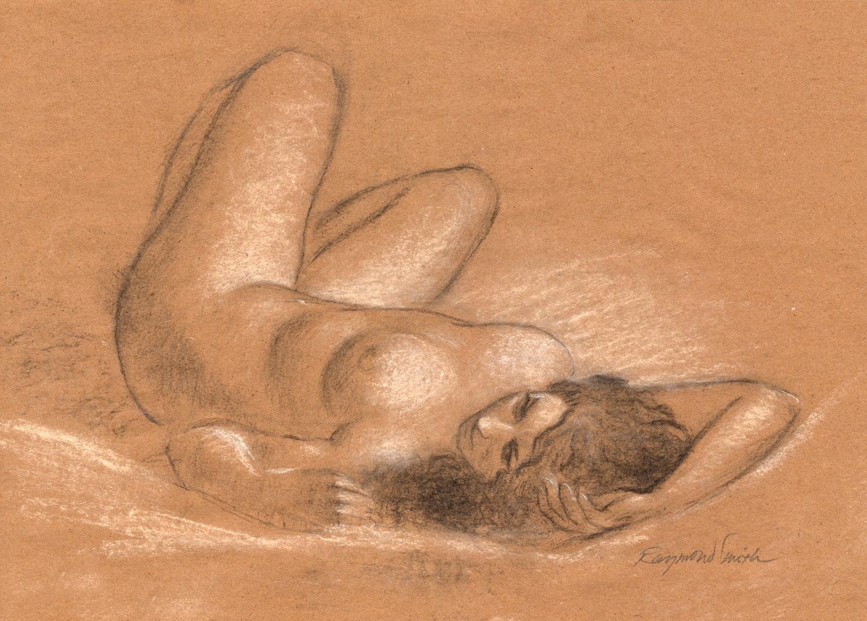 """Jessica Lynn    Charcoal & Chalk  12"""" X 18""""  2010"""