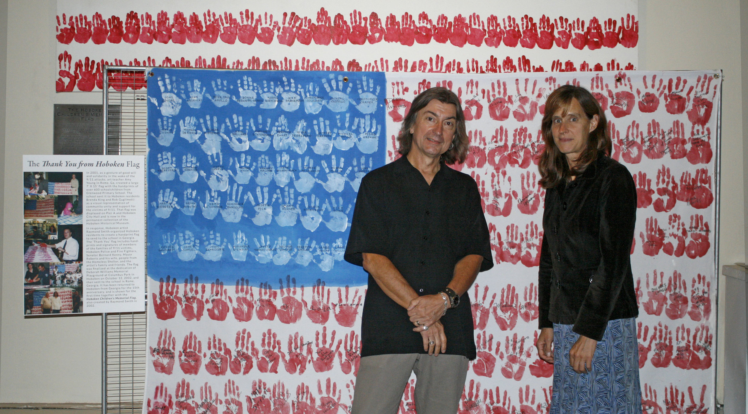 Mayor Zimmer and I with the  Thank You from Hoboken  flag.