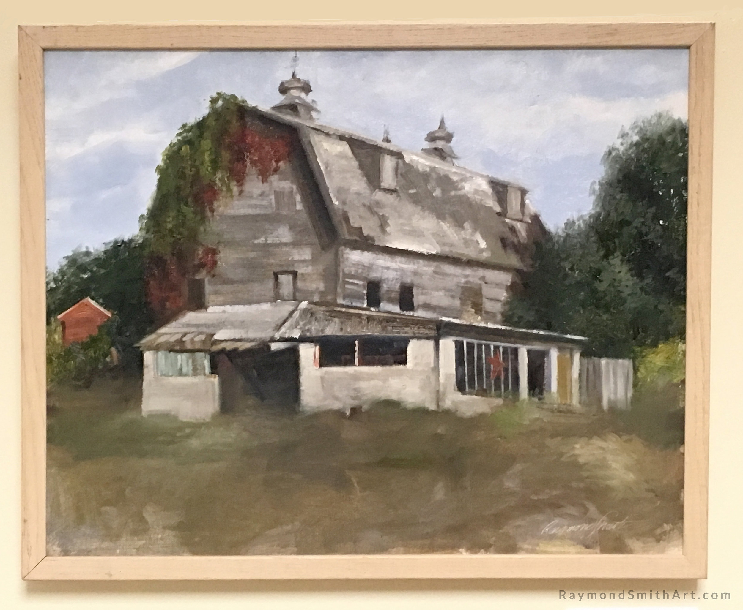 "Charlie's Barn  16"" X 20"" Oil on panel"