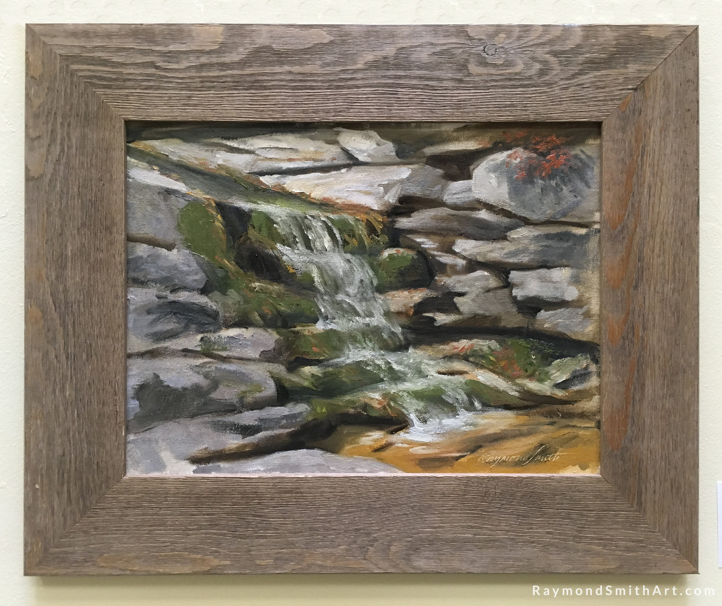 """Head of the Falls 12"""" X 16"""" Oil on panel"""
