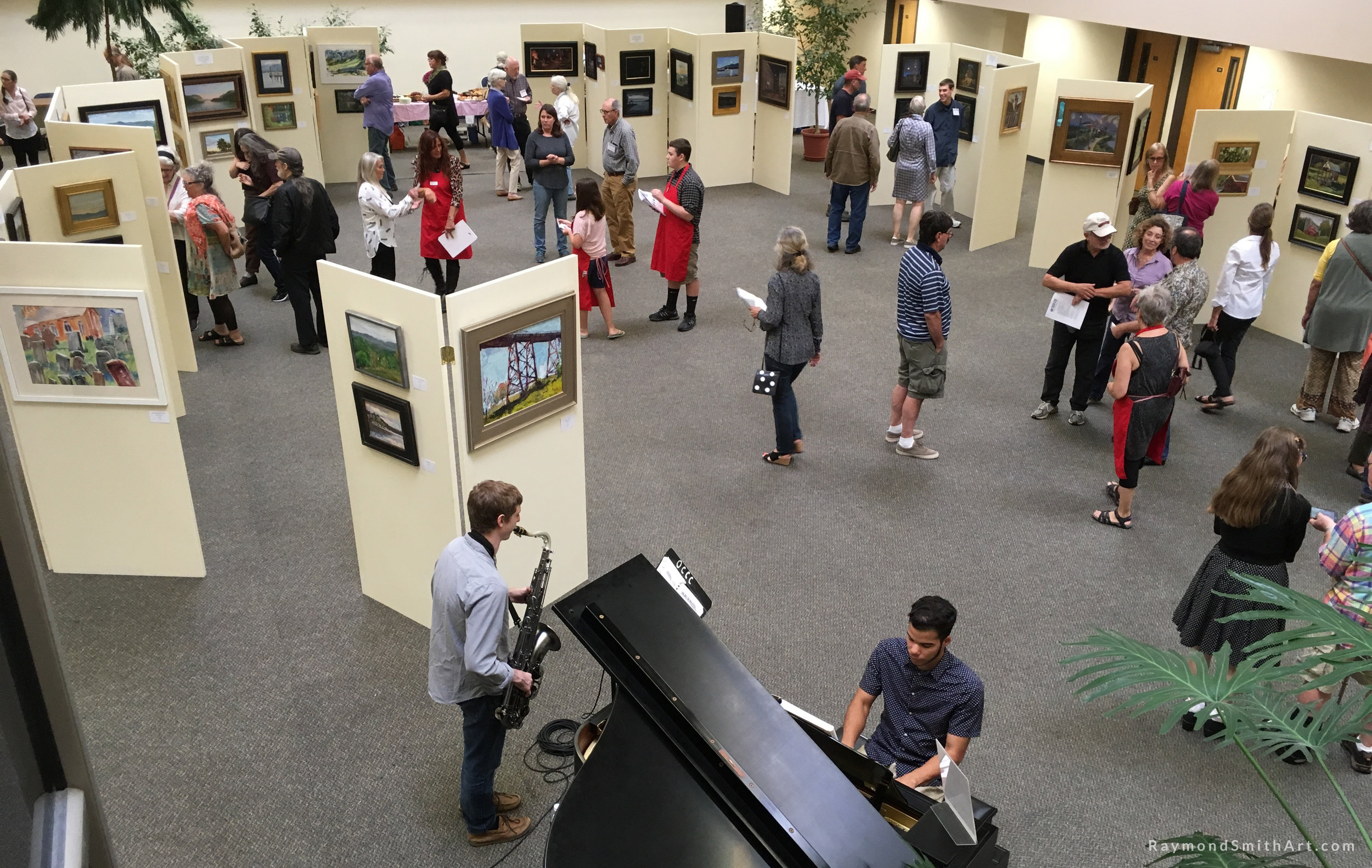 Showtime for the Hudson Valley Plein Air Festival at SUNY College, Middletown, NY