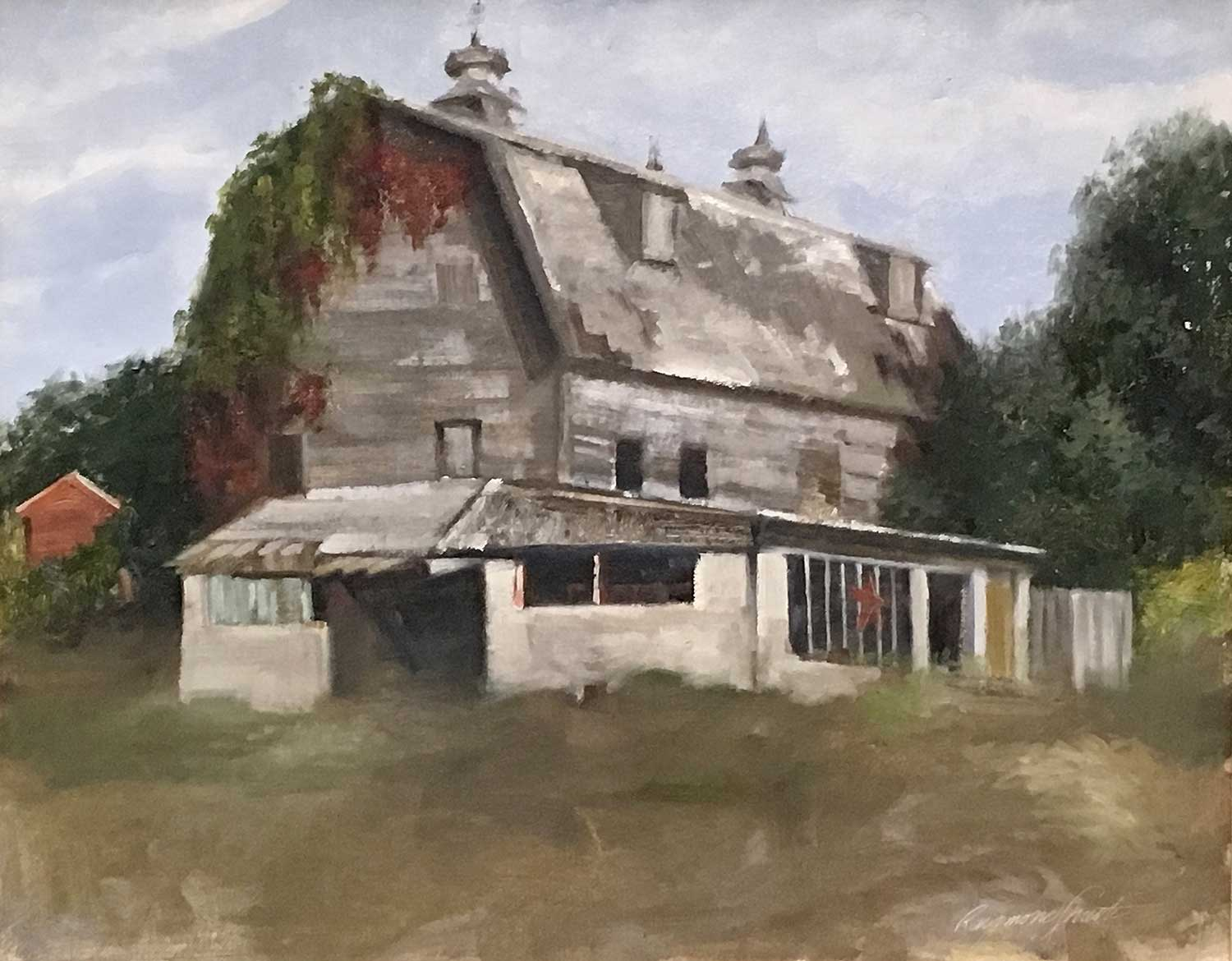 "Charlie's Barn      Oil/Panel    16"" X 20"""