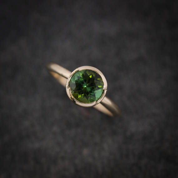 This One of a Kind Green Tourmaline and 14k Yellow Gold Ring is available for sale  here  Ready to Ship in a Size 6.