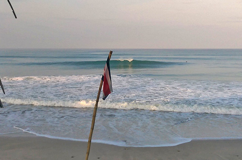 Playa Carmen is a 10 minute drive from the property and has many peaks to choose from. Early morning, high tide and super fun. Proof of how perfect the waves can get.
