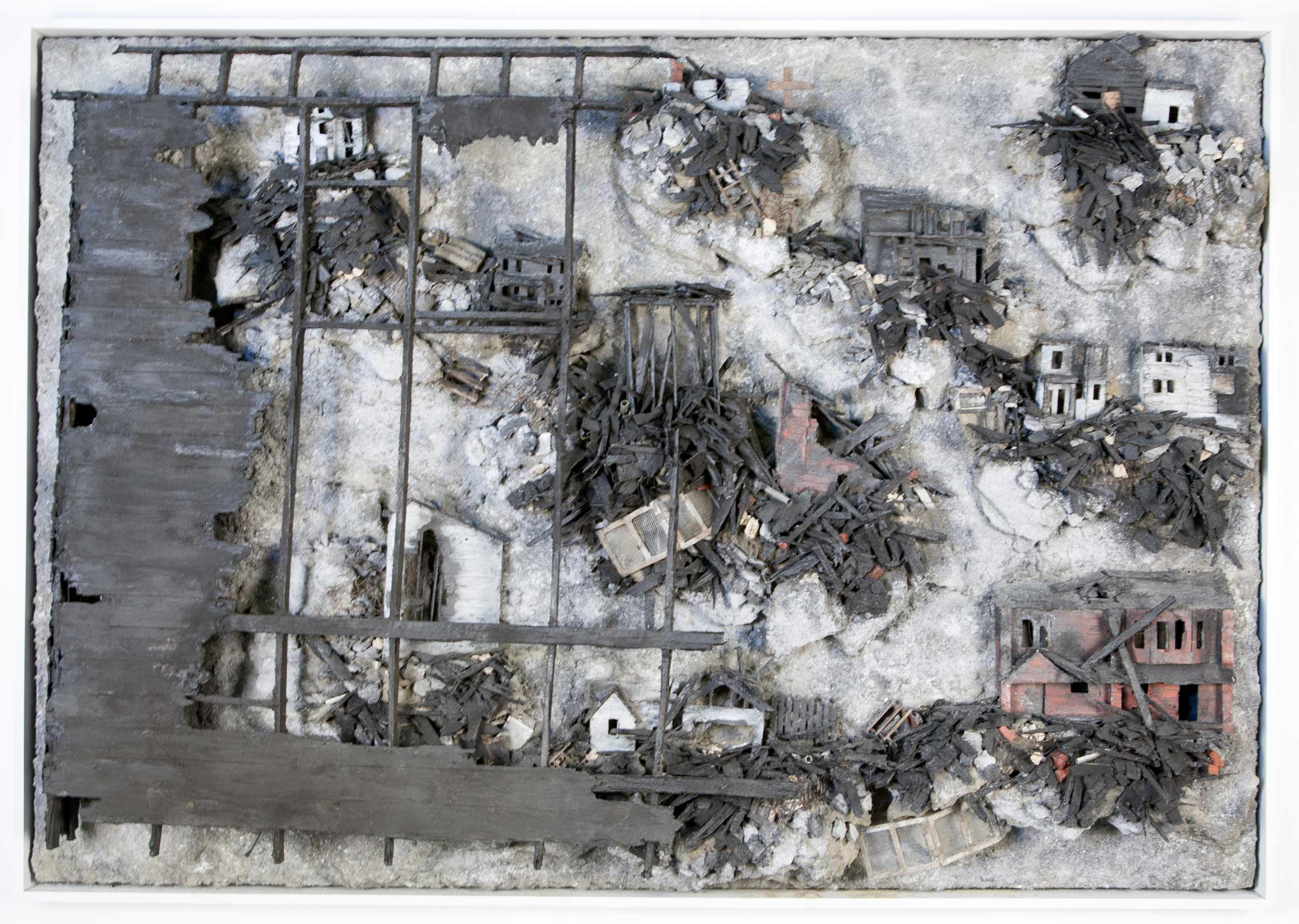 """The Burn Is On, 2016   44""""x62""""x7"""""""