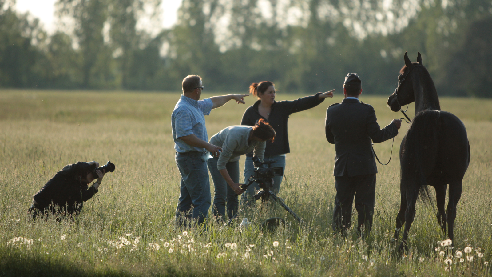 The team at work in Poland