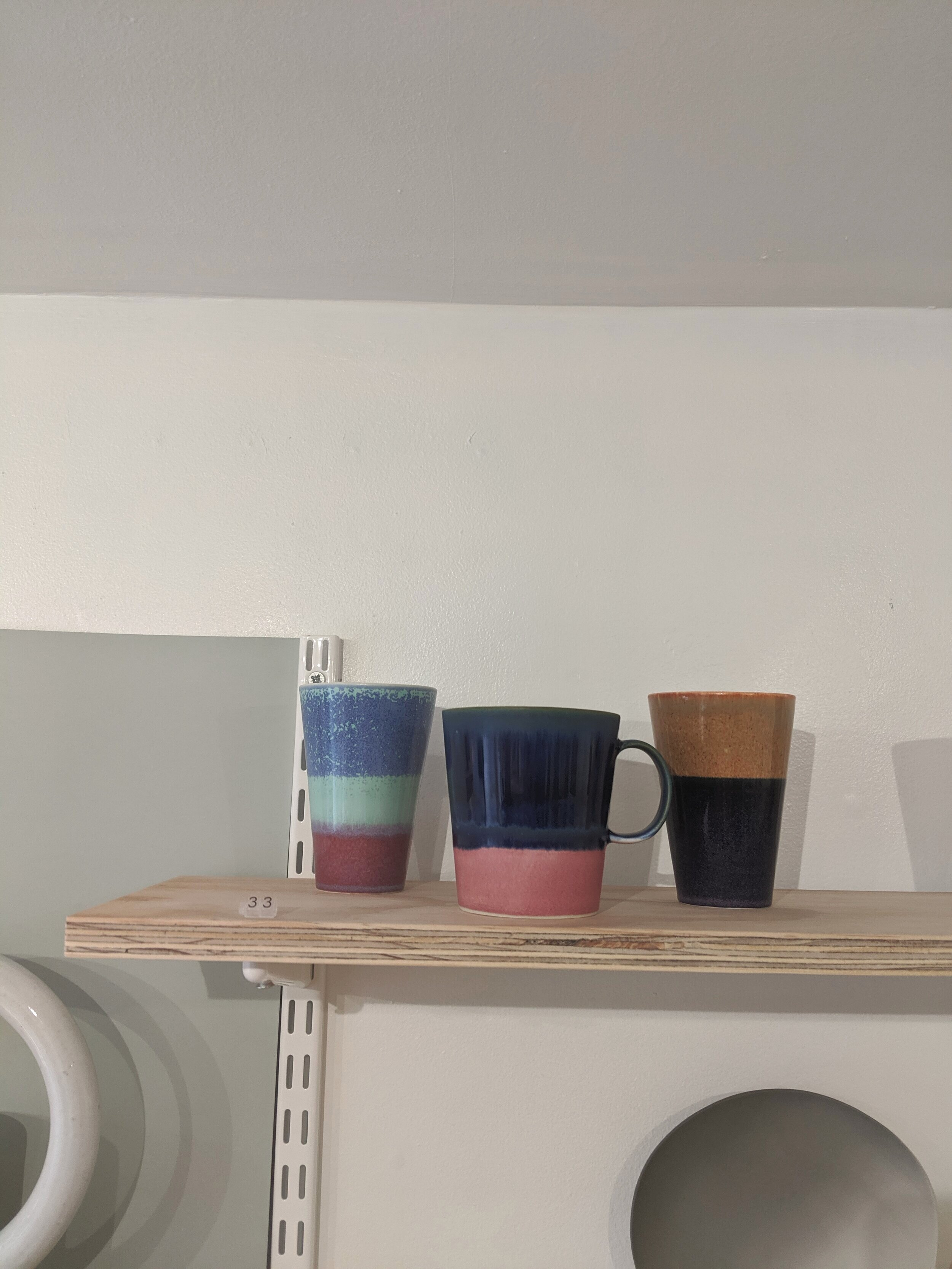 Yuta Segawa Tumblers and mugs, glazed porcelain.